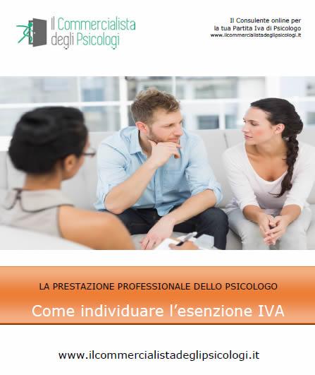 LA PRESTAZIONE PROFESSIONALE DELLO PSICOLOGO Come individuare l'esenzione IVA