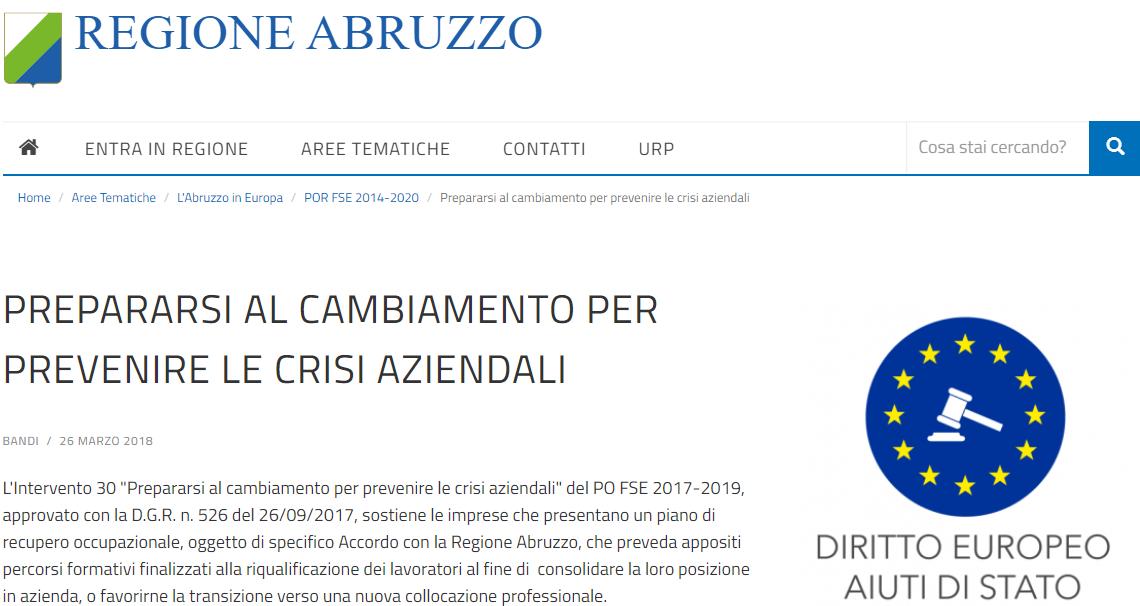 ABRUZZO: formazione aziendale finanziata dalla Regione