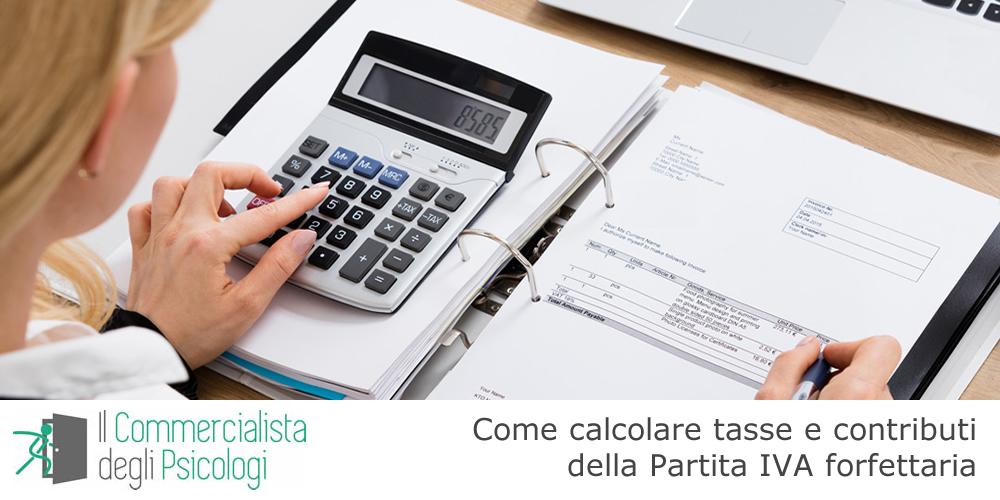Come calcolare tasse e contributi della Partita IVA forfettaria