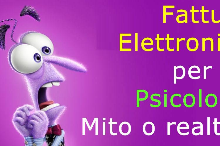 Esenzione Fattura elettronica per gli Psicologi